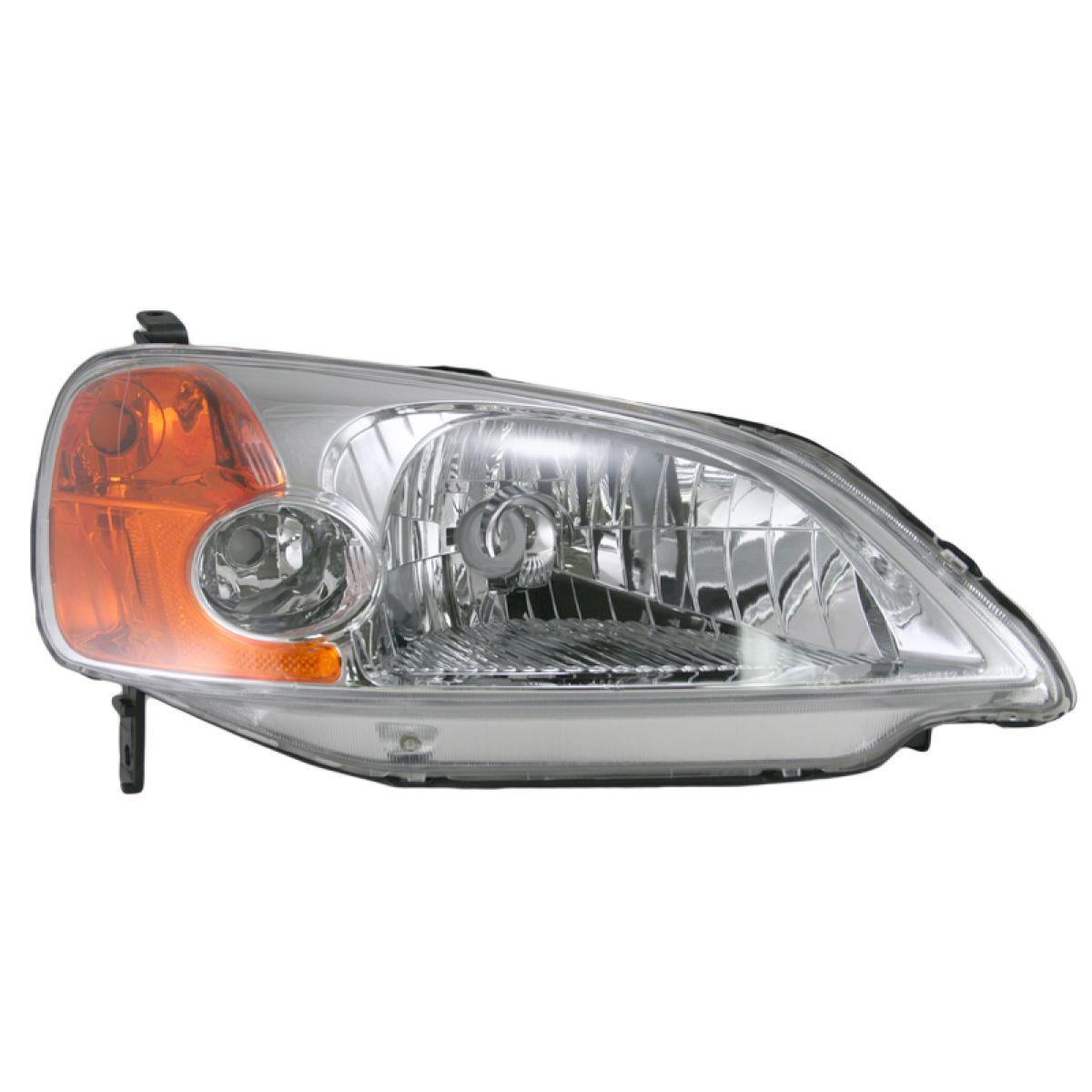 Headlight headlamp passenger side right rh for 01 03 honda for 01 honda civic 4 door