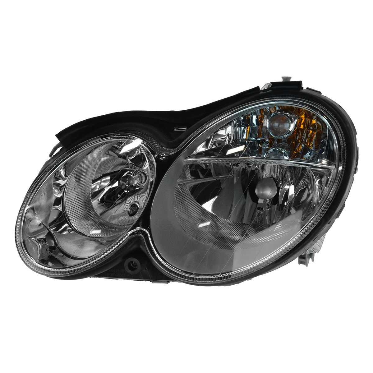 Headlight halogen driver side left lh for mb c55 amg for Mercedes benz headlight lens