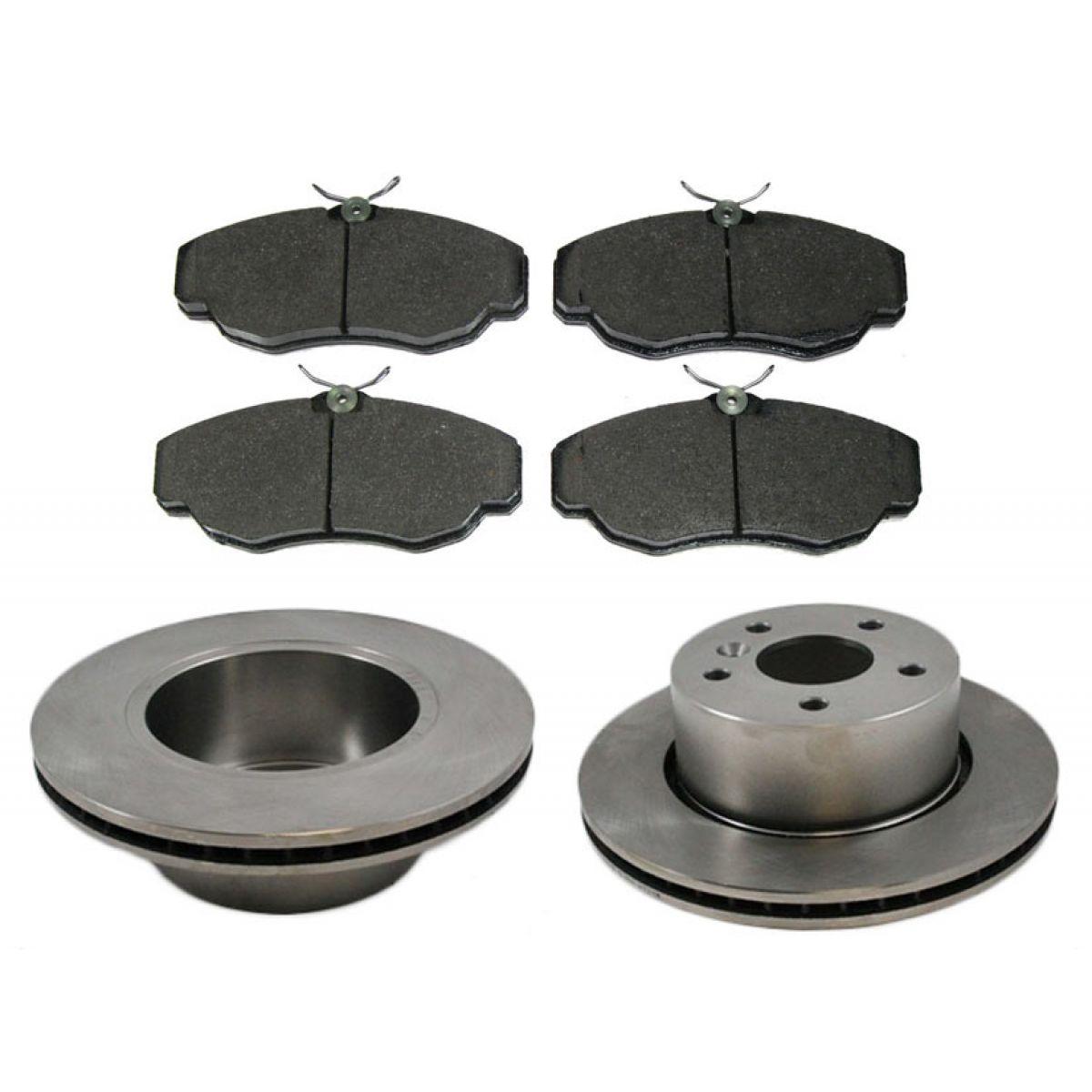 Front Disc Brake Pads And Rotor Pair Kit Set Land Rover