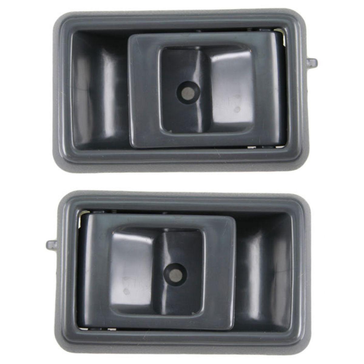Gray Inner Interior Inside Door Handle Pair Set For Toyota Corolla Pickup Truck Ebay