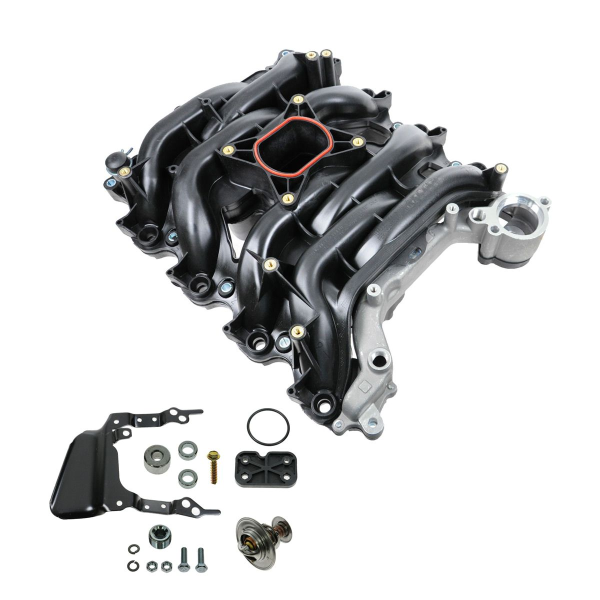 V8 Intake Manifold : Intake manifold w thermostat gaskets kit new for ford