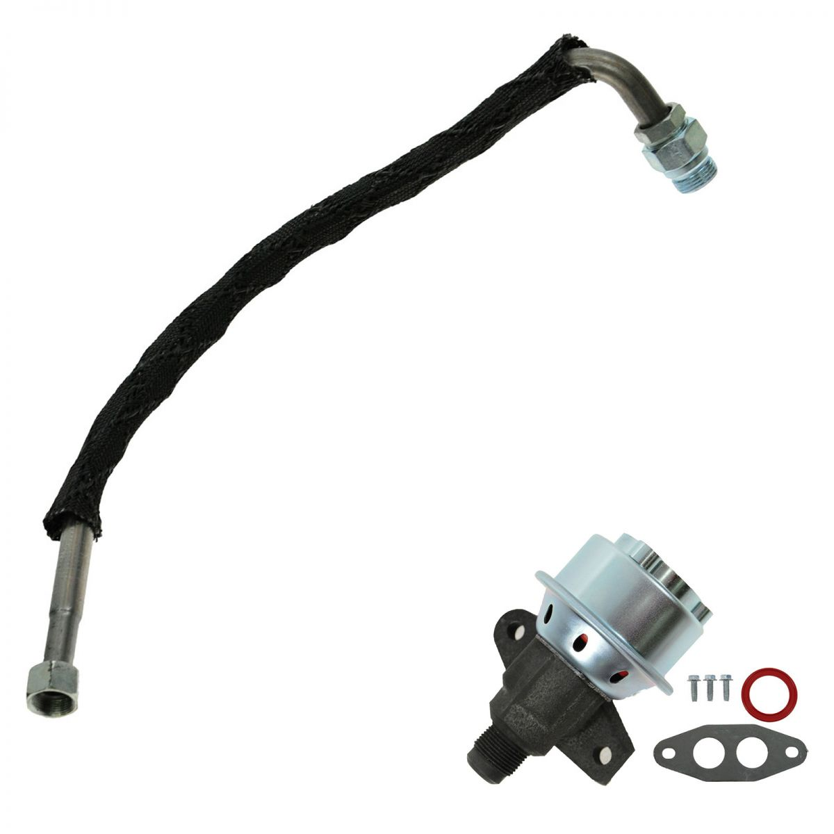 emissions egr tube and valve for 90 94 ford truck van econoline 4 9l f150 e150 ebay. Black Bedroom Furniture Sets. Home Design Ideas