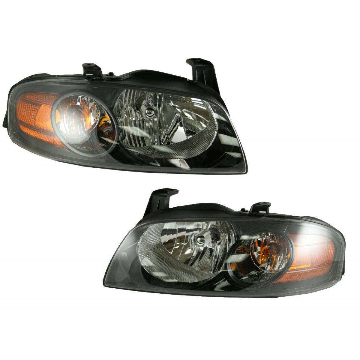 headlights headlamps lamp pair set new for 04 06 nissan. Black Bedroom Furniture Sets. Home Design Ideas