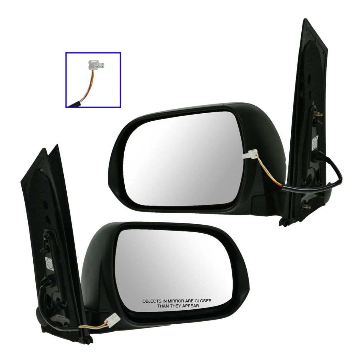 Side View Mirrors Power Textured Left Amp Right Pair Set For