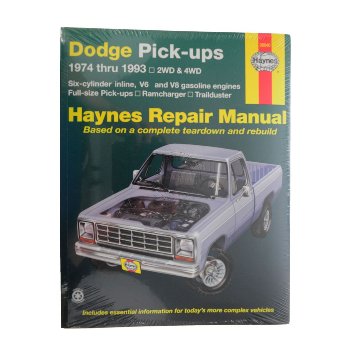 haynes repair manual for 1974 1993 dodge pickup ramcharger. Black Bedroom Furniture Sets. Home Design Ideas
