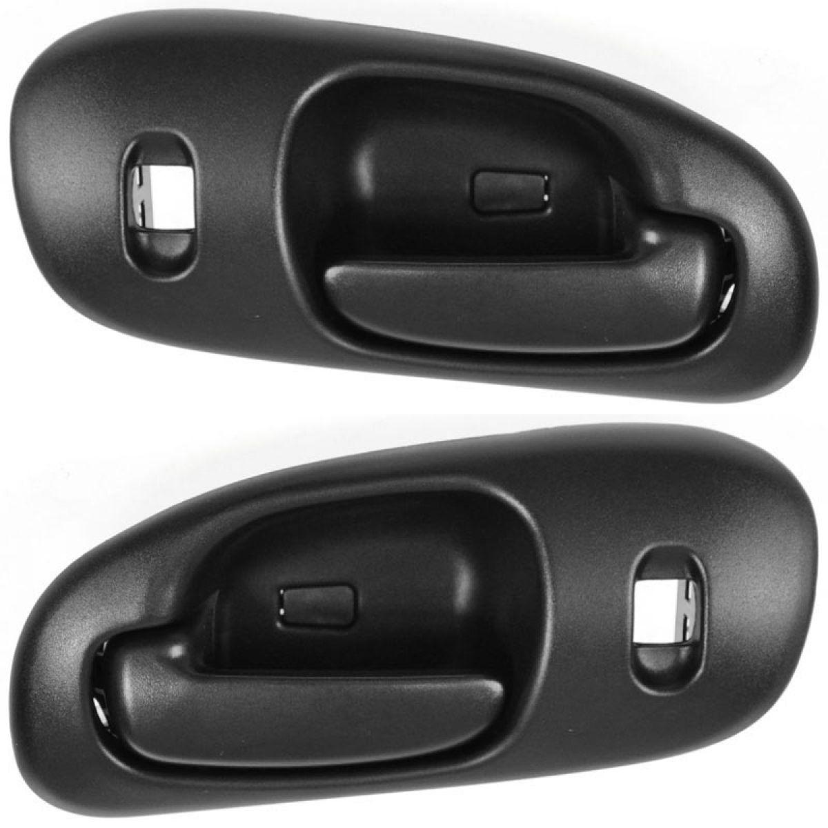 front black interior inside door handle pair set of 2 for