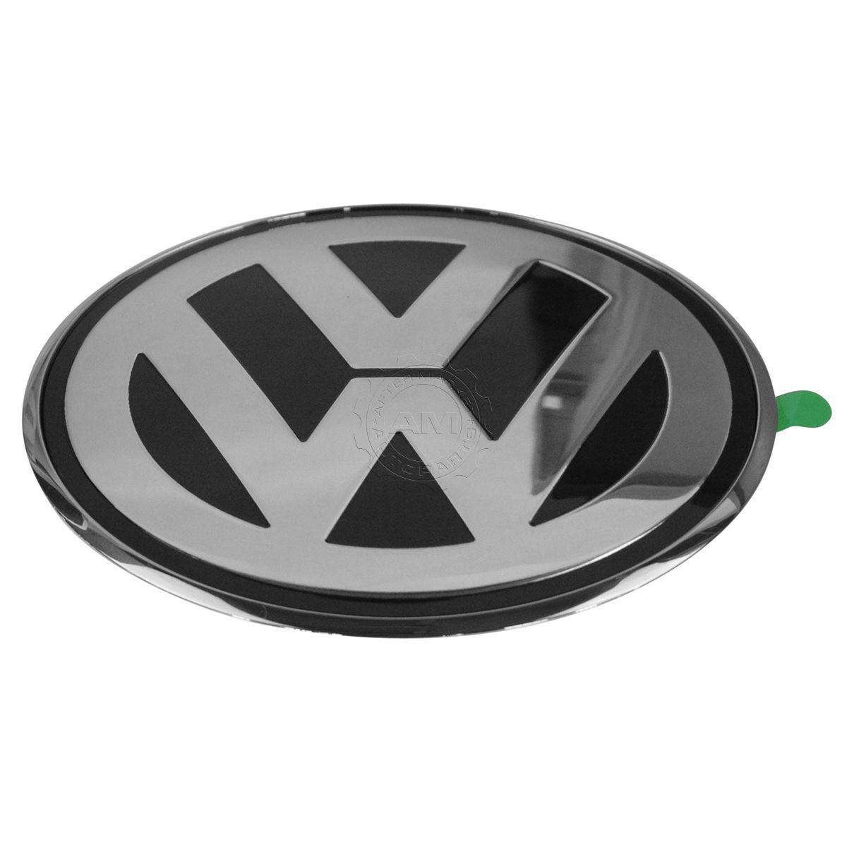 oem emblem nameplate chrome black rear trunk mounted for 98 05 vw beetle ebay. Black Bedroom Furniture Sets. Home Design Ideas