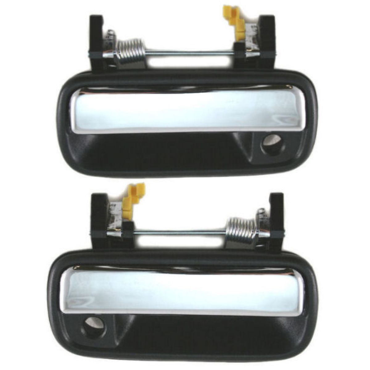 Chrome Outside Exterior Door Handle Pair Set For 89 95