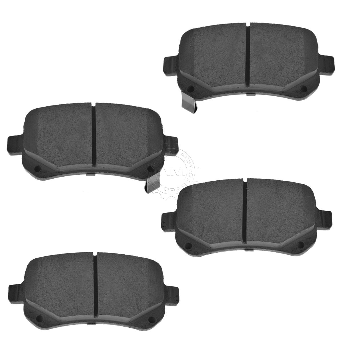 Front Rear Premium Posi Ceramic Brake Pad Rotor & Hardware Kit for Dodge Caravan