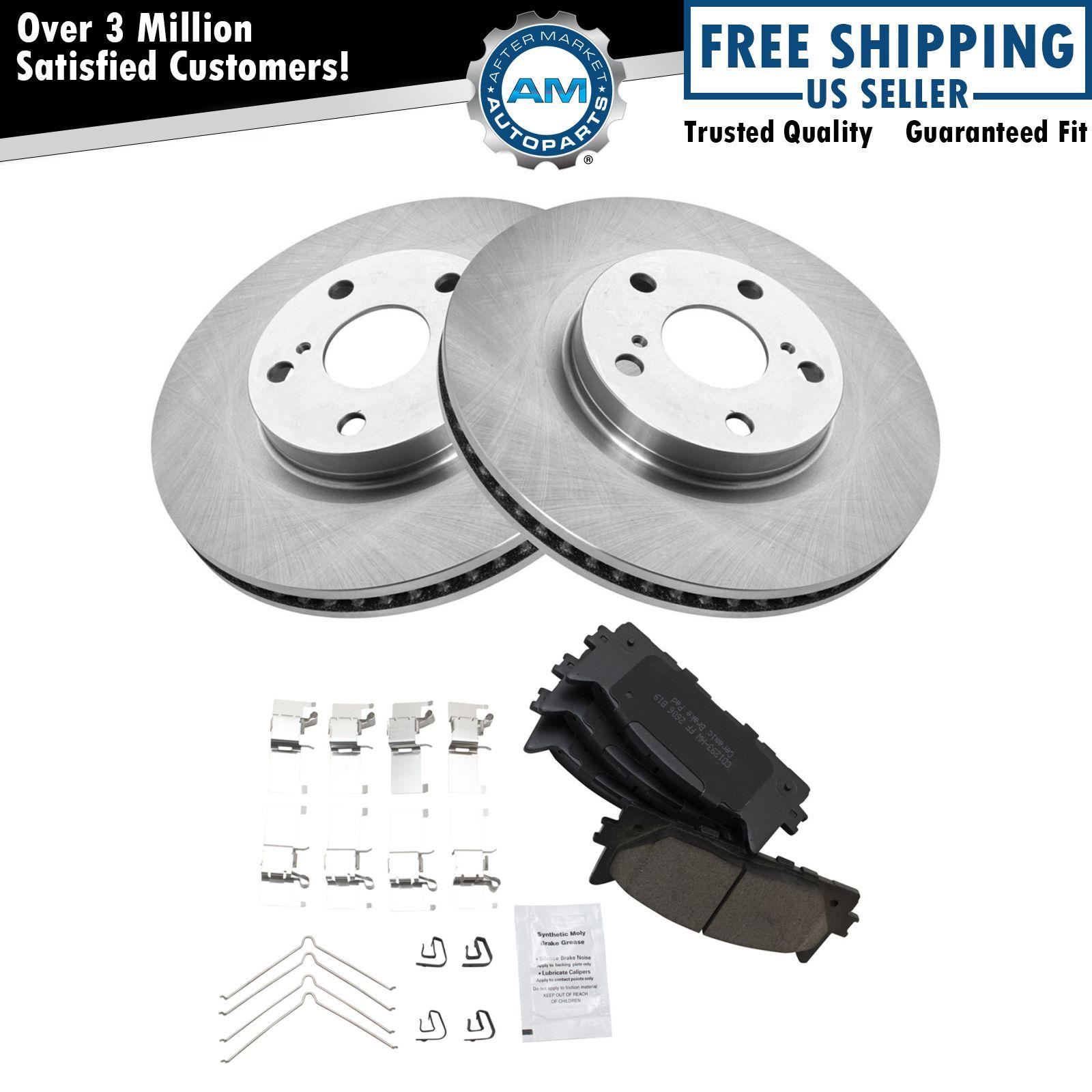 front ceramic disc brake pad rotor kit set for camry. Black Bedroom Furniture Sets. Home Design Ideas