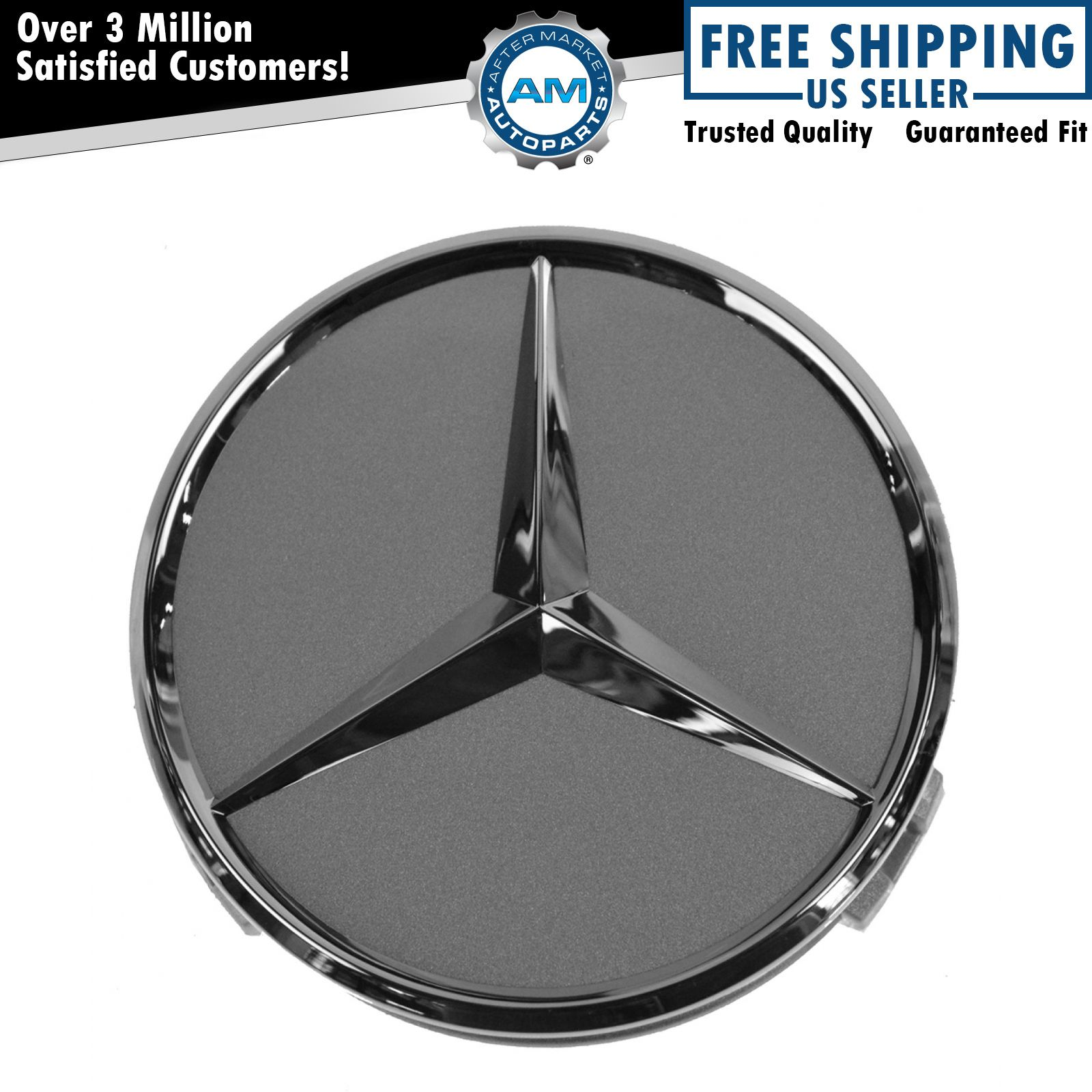 Oem wheel cap titanium chrome center for mercedes benz for Chrome mercedes benz