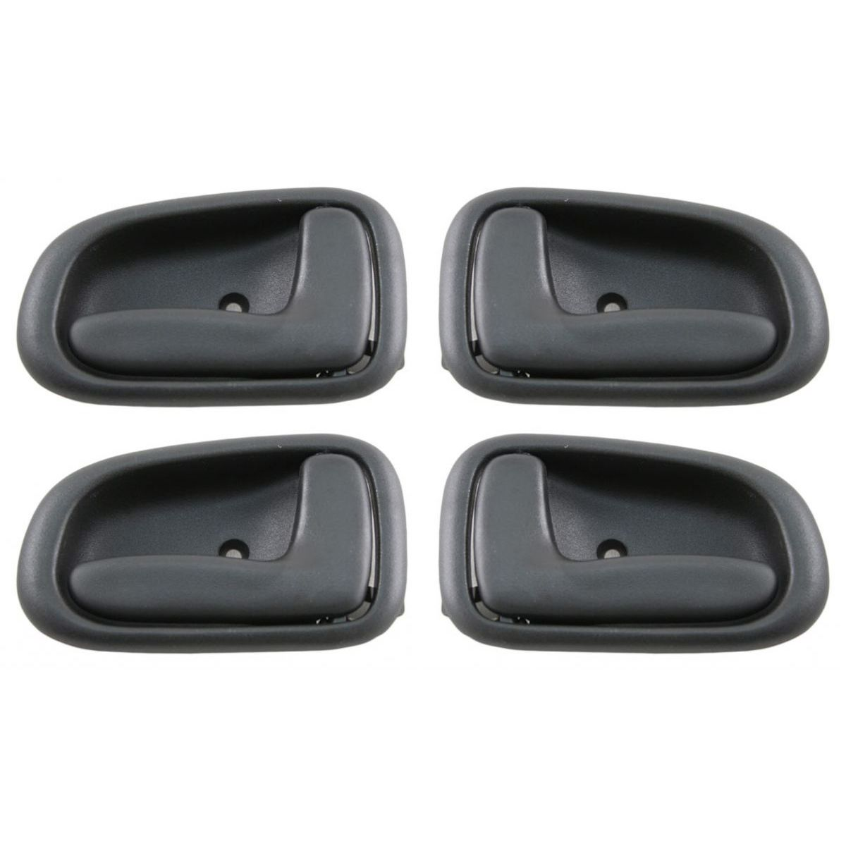 dark gray inner inside interior door handle 4 piece kit set for corolla prizm ebay. Black Bedroom Furniture Sets. Home Design Ideas