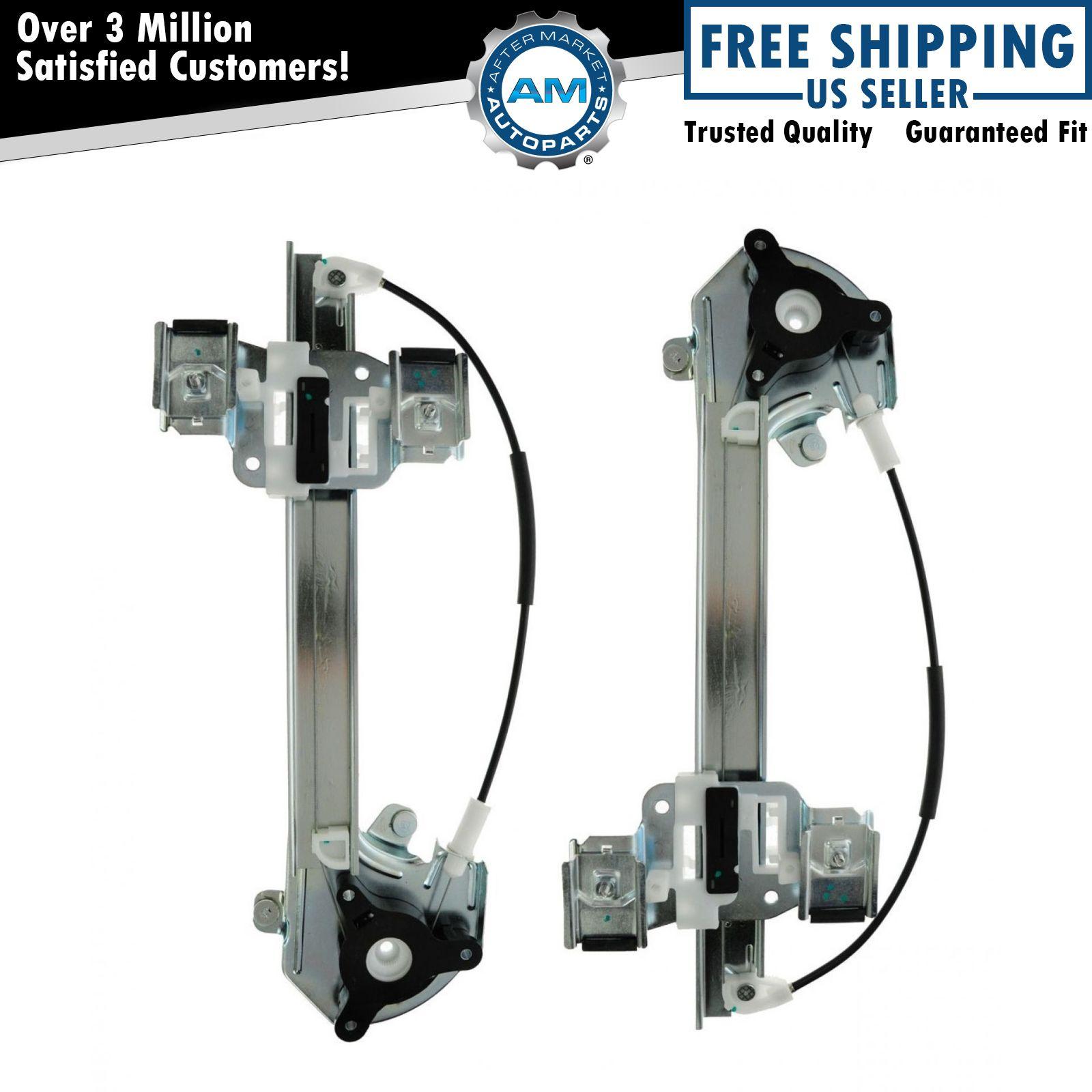 Rear door window regulator left right pair set of 2 for for 2000 buick lesabre window regulator replacement