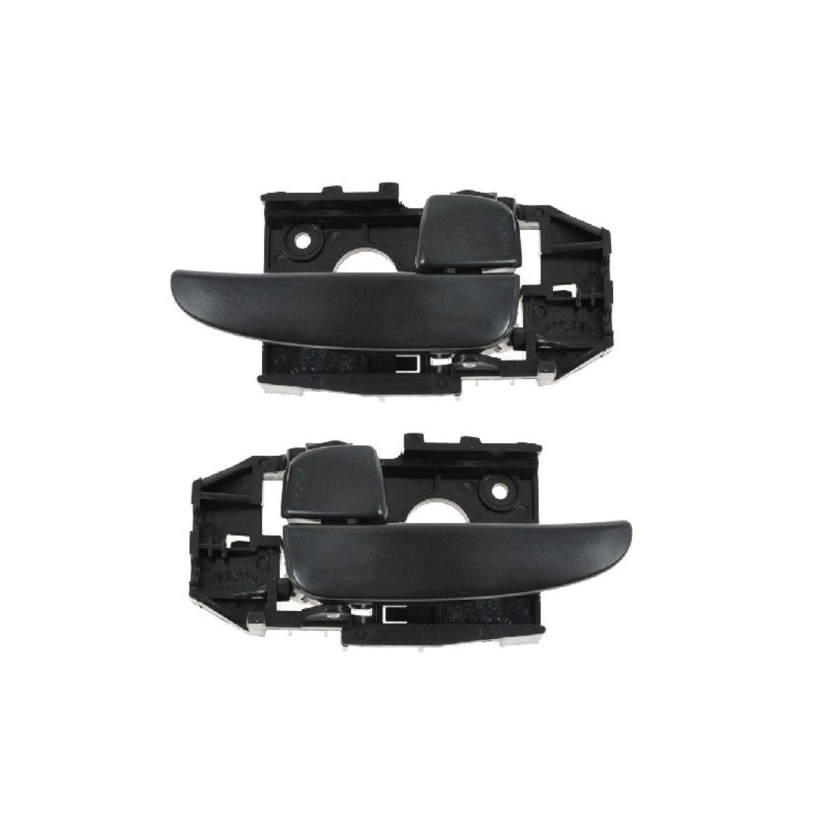 Front Or Rear Black Inside Inner Interior Door Handle Pair Set For 01 06 Elantra Ebay