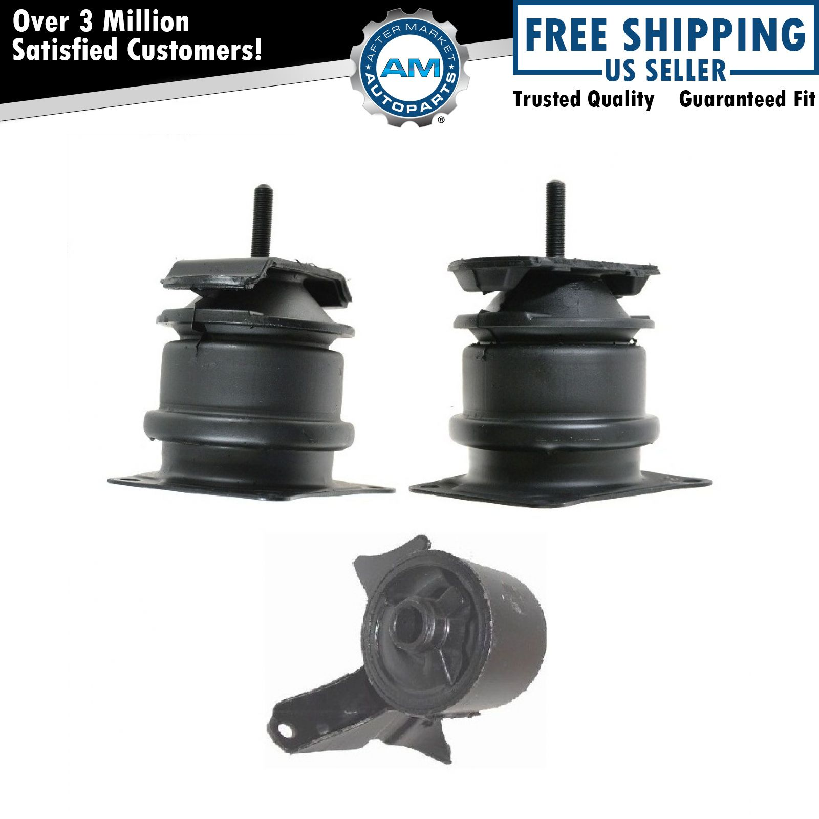Front rear engine motor mount set of 3 kit for honda accord 3 0l acura 3 2tl ebay Acura motor mounts