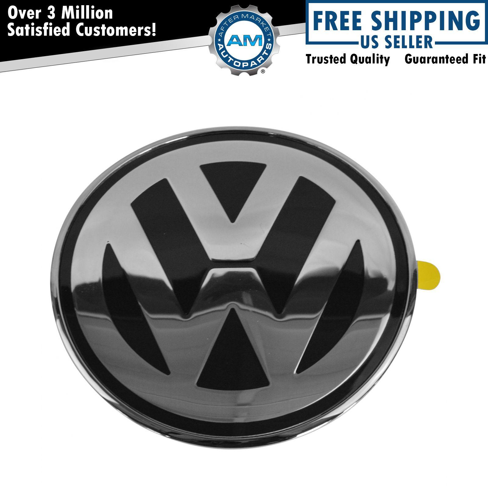 oem 1c0 853 617 a wv9 hood mounted chrome black emblem nameplate for vw beetle ebay. Black Bedroom Furniture Sets. Home Design Ideas