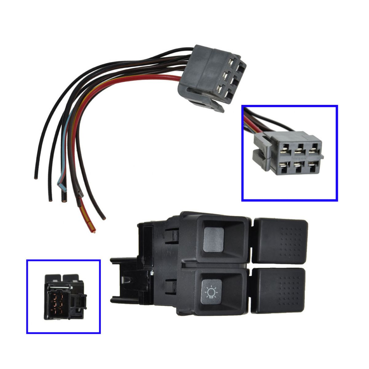 Details about Headlight Switch w/Plug & Wiring for Ford Mustang 87-93