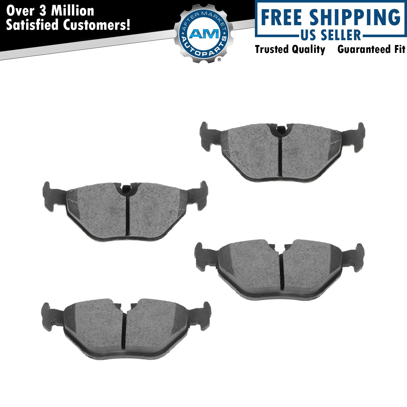 Nakamoto Rear Ceramic Brake Pad Set For Bmw 323ci 325ci
