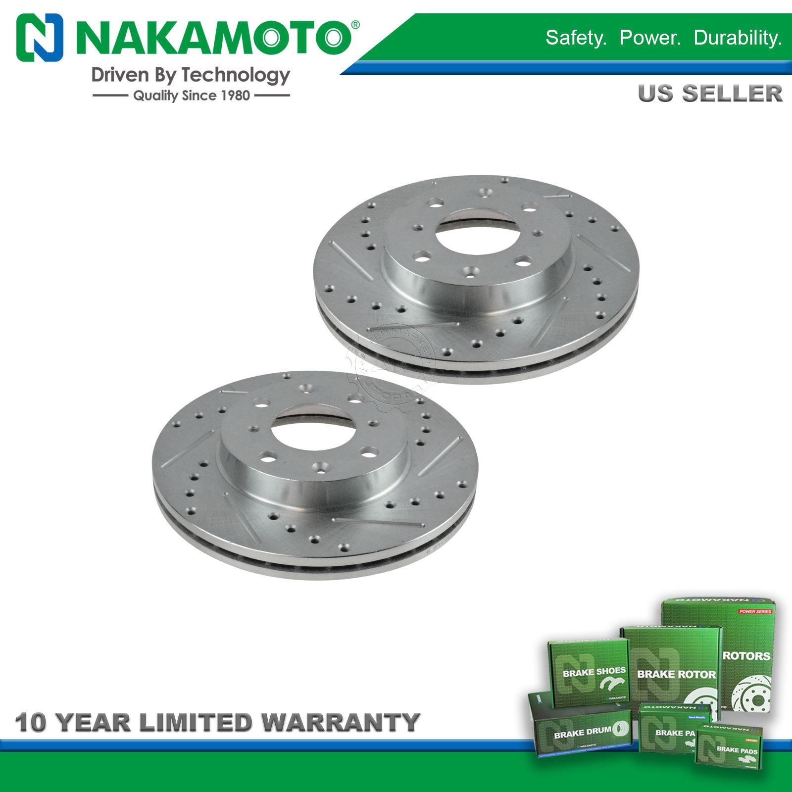 Brakes Lining Rotor : Nakamoto performance disc brake rotor drilled slotted
