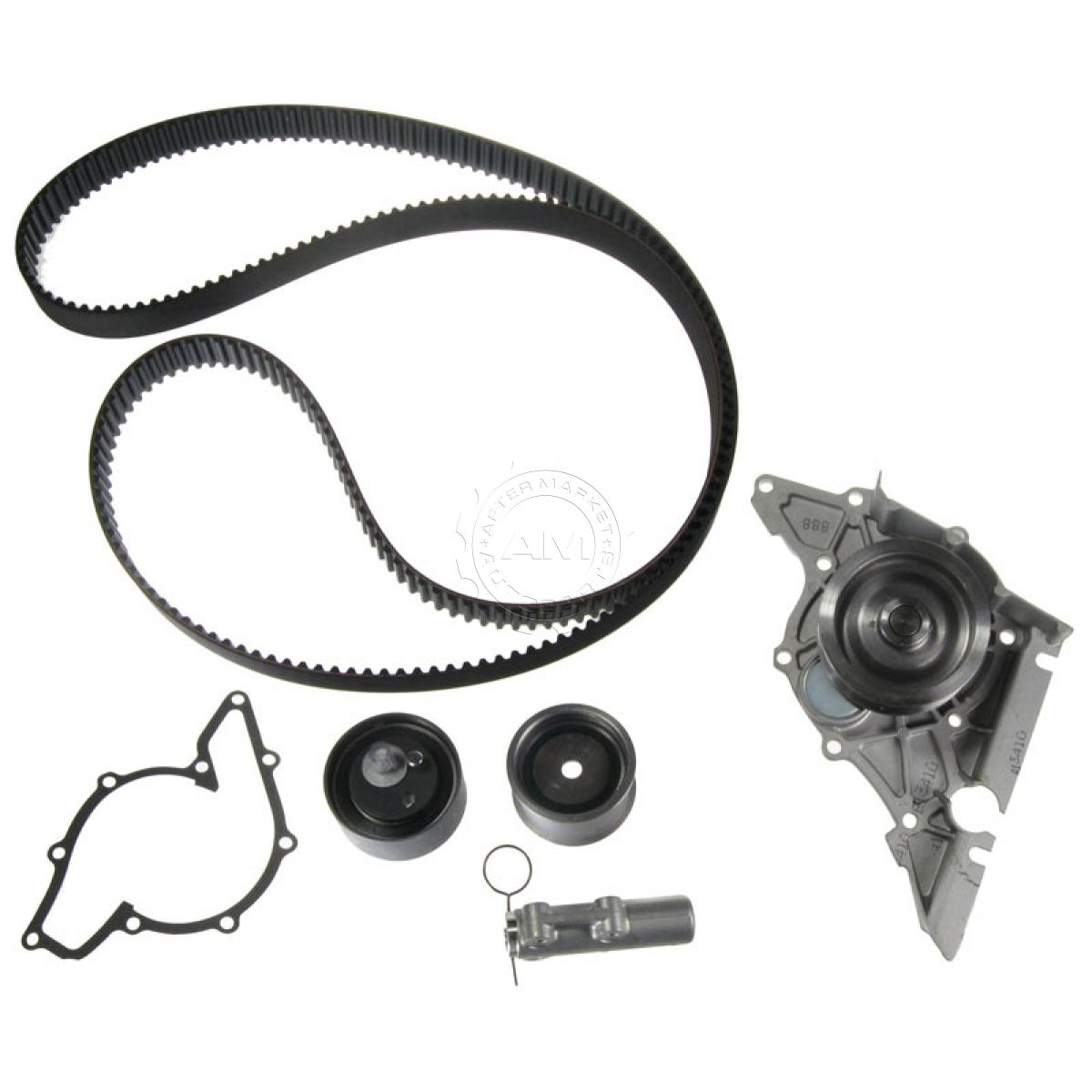 Audi Timing Belt : Gates tckwp timing belt kit w water pump set for audi