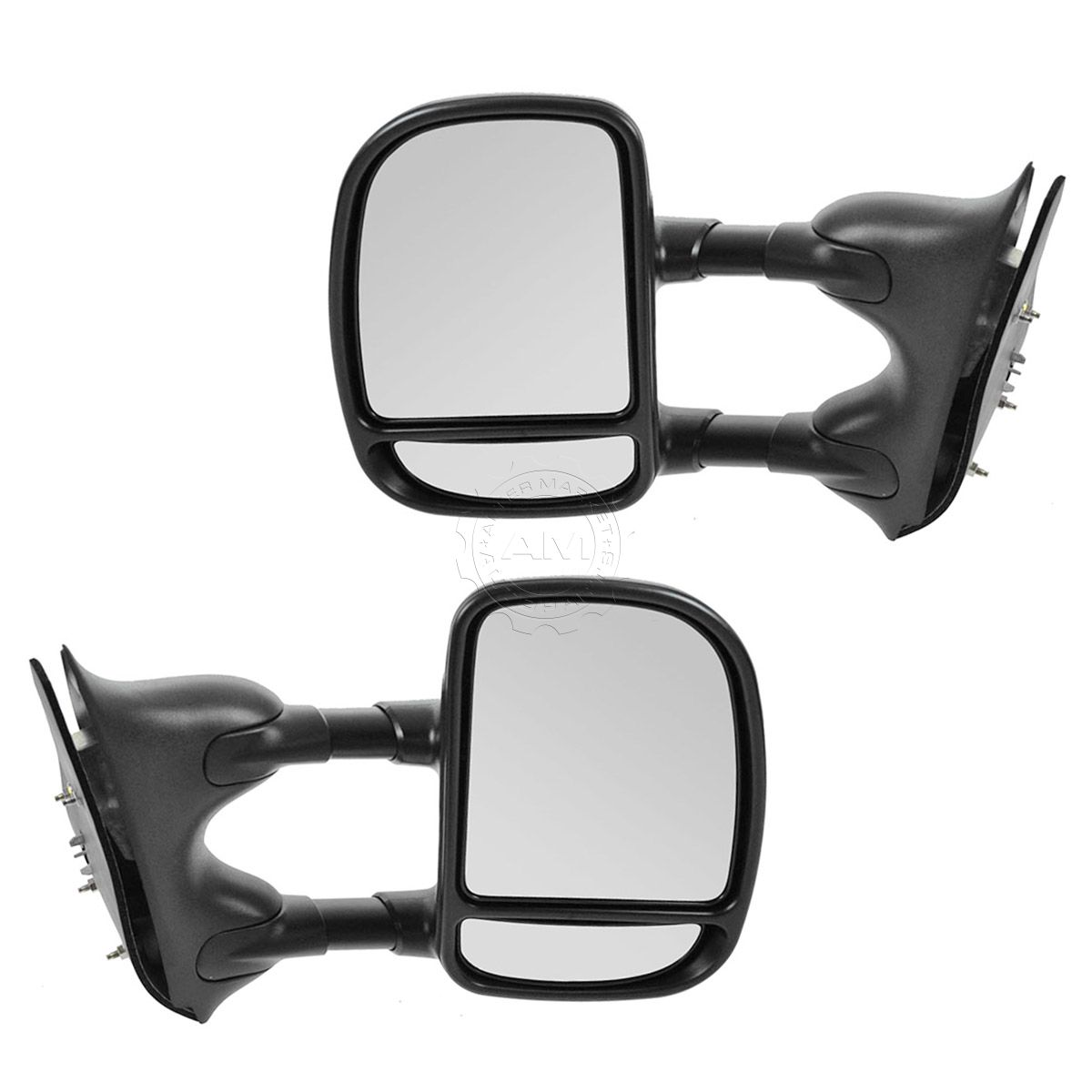 Vehicle Towing Mirrors : Towing manual side view mirrors left right pair set for