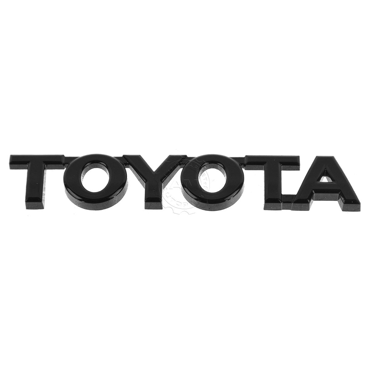 oem nameplate emblem onyx black tailgate mount for toyota. Black Bedroom Furniture Sets. Home Design Ideas