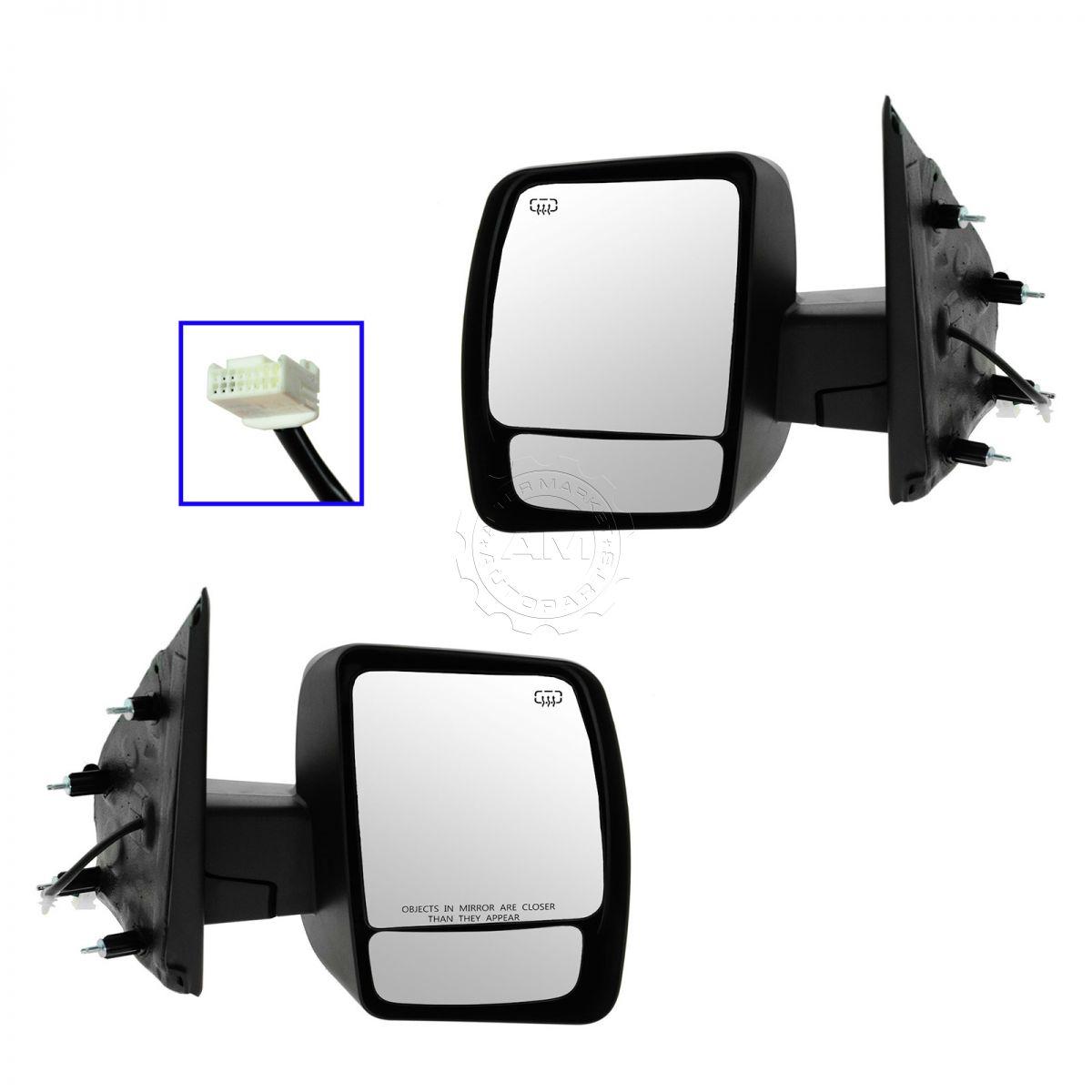 Mirror Power Heated Chrome Pair Set For 12-13 Nissan NV