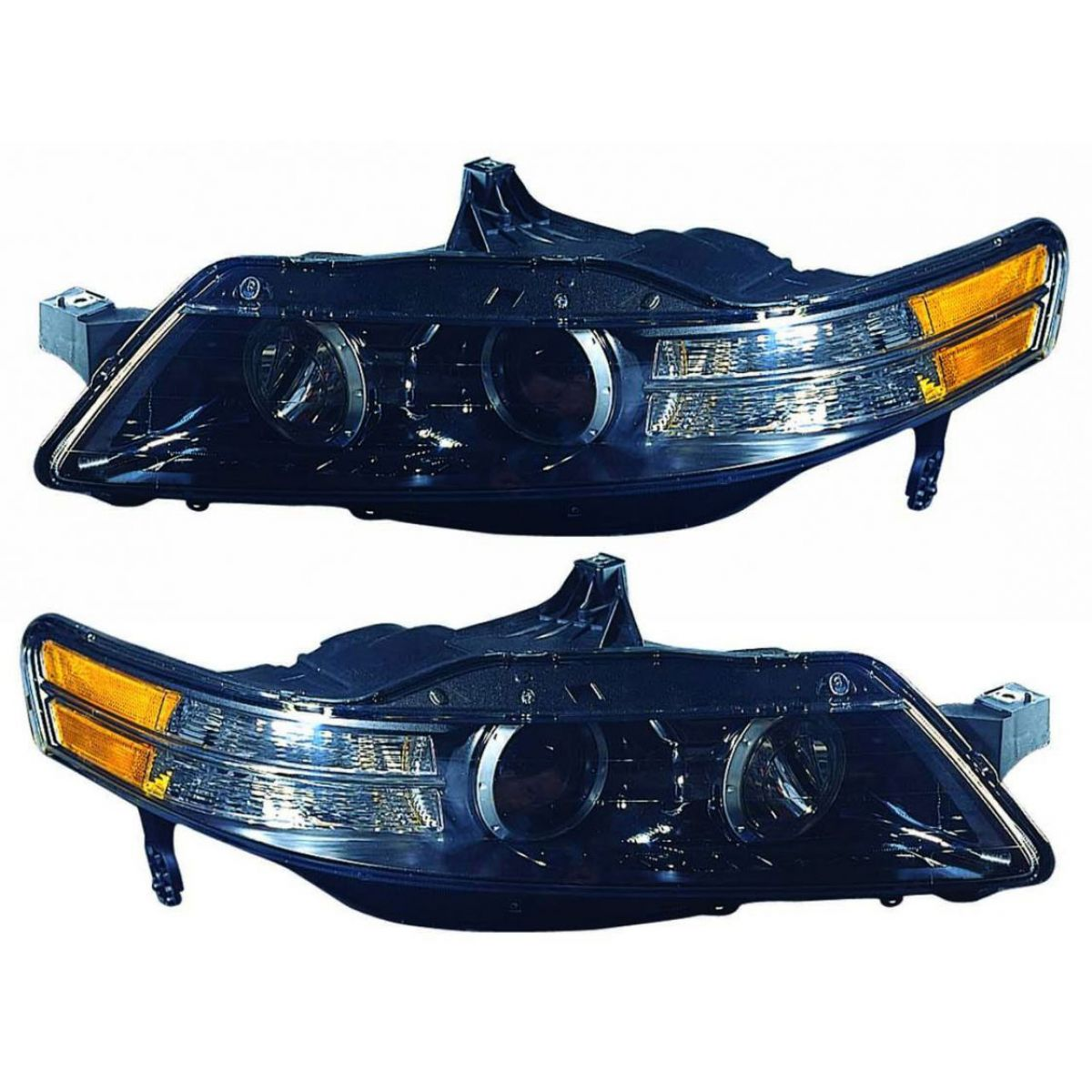 Headlights Headlamps Left & Right Pair Set NEW For 07-08