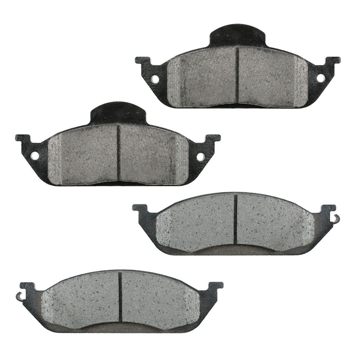 Front metallic disc brake pads set for mercedes benz ml320 for Mercedes benz rotors and pads
