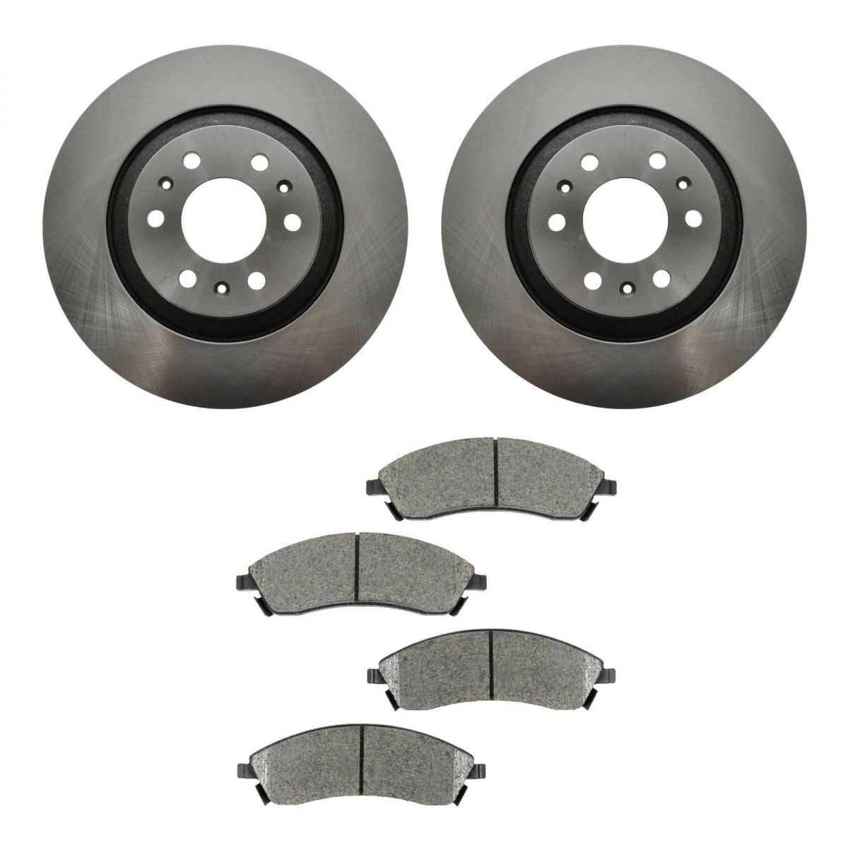 front ceramic brake pads 2 discs rotors kit set new for 04. Black Bedroom Furniture Sets. Home Design Ideas