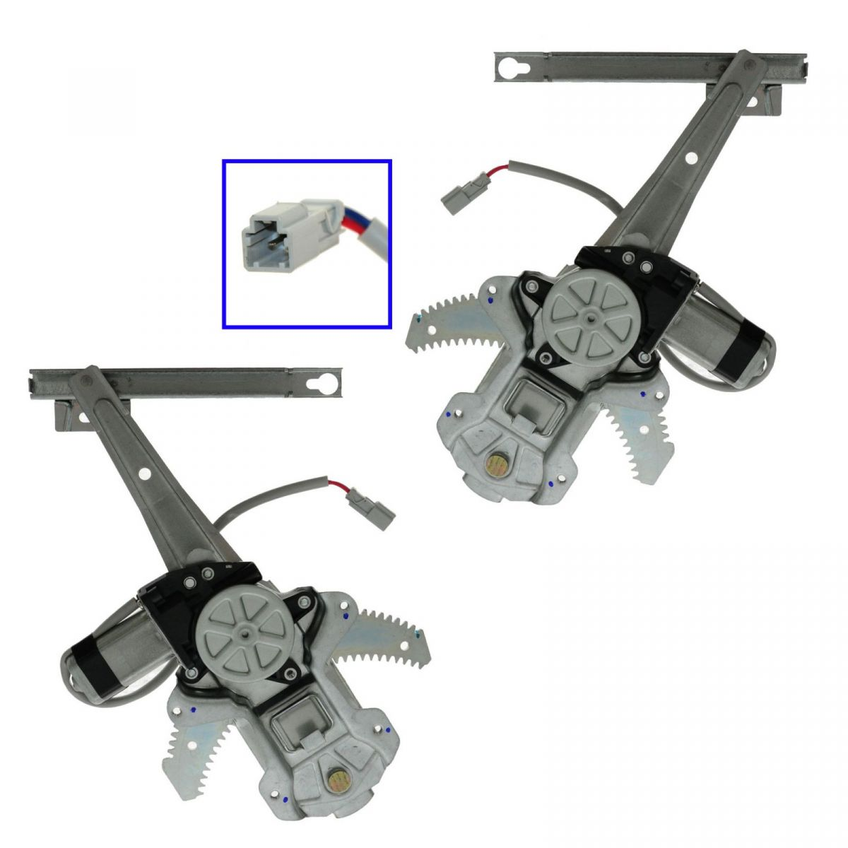 Rear door power window regulators w motor pair set lh for 1997 honda crv window regulator