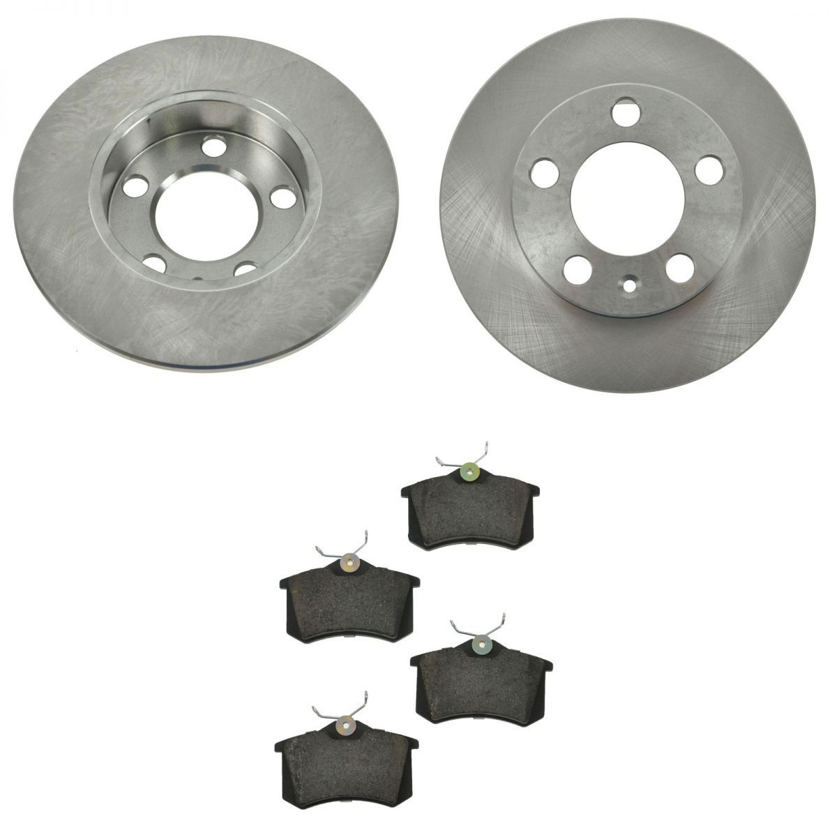 rear ceramic brake pads 2 rotors discs set for audi tt. Black Bedroom Furniture Sets. Home Design Ideas