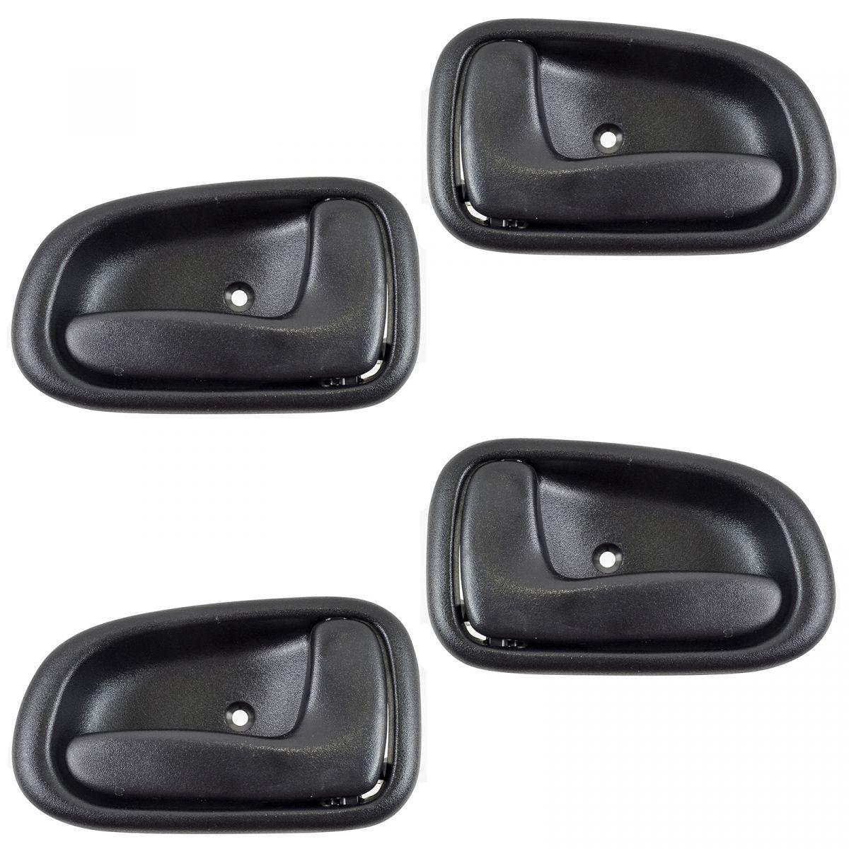 Interior Inner Inside Door Handle Black Set Of 4 Kit For 93 97 Toyota Corolla Ebay