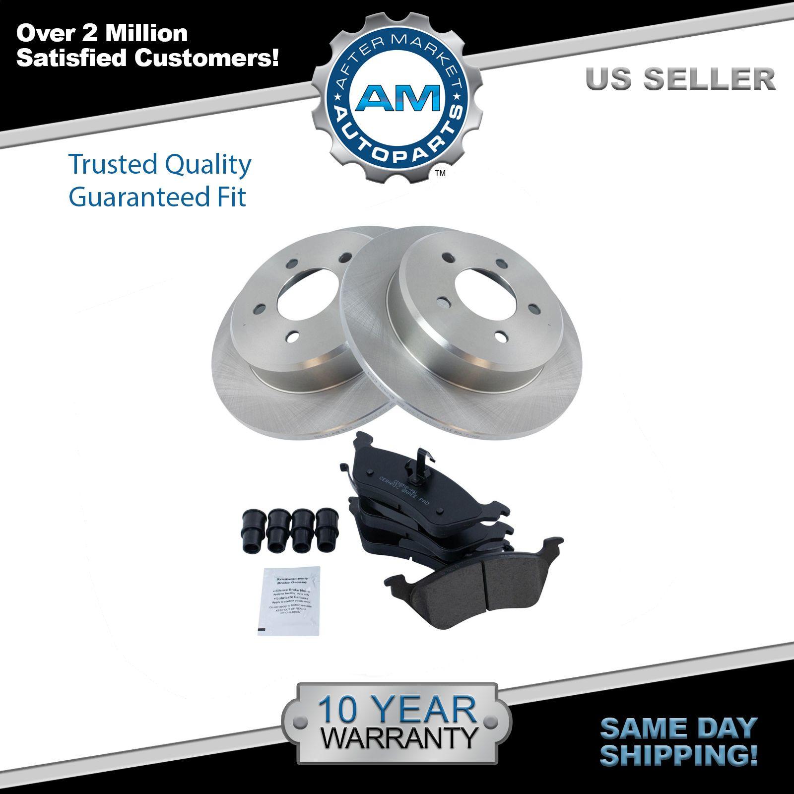 Grand//Caravan 01-07 REAR Brake Rotors Ceramic Pads