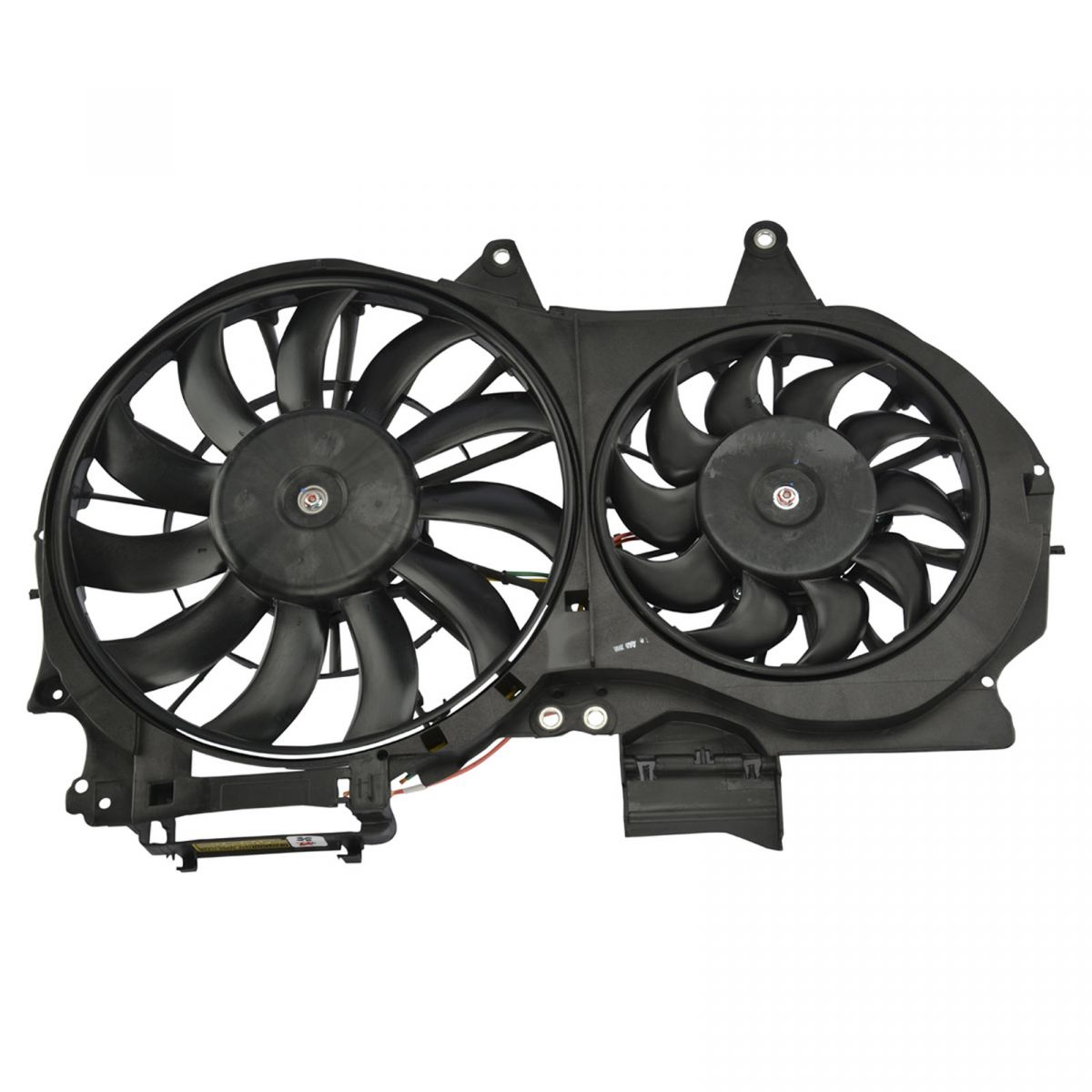 Dual Radiator Cooling Fan Assembly for 02-03 Audi A4 L4 Turbo 1.8L