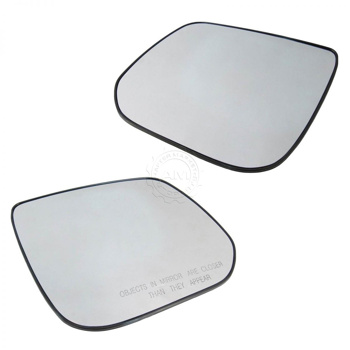 Exterior Side View Mirror Glass w//Backing Plate Pair LH /& RH Set for Aura Malibu