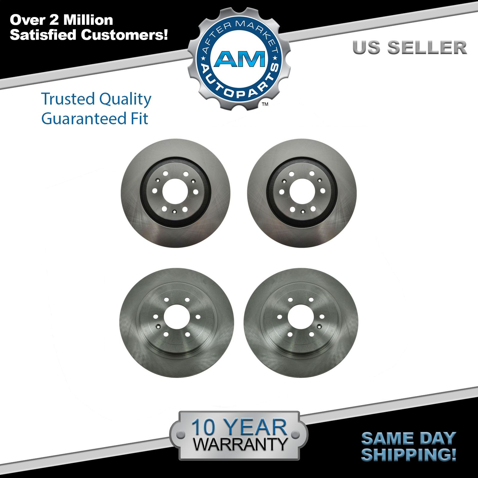 2 Front Brake Disc Rotors For 2004 2005 2006 2007 2008 2009 CADILLAC SRX