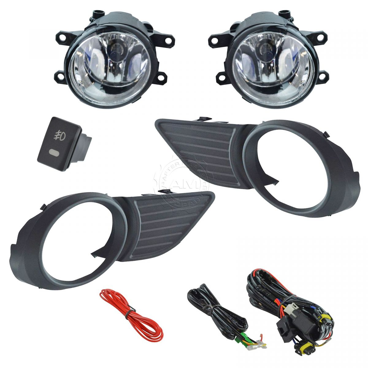 Add On Upgrade Clear Lens Fog Light Switch Wiring Kit Set
