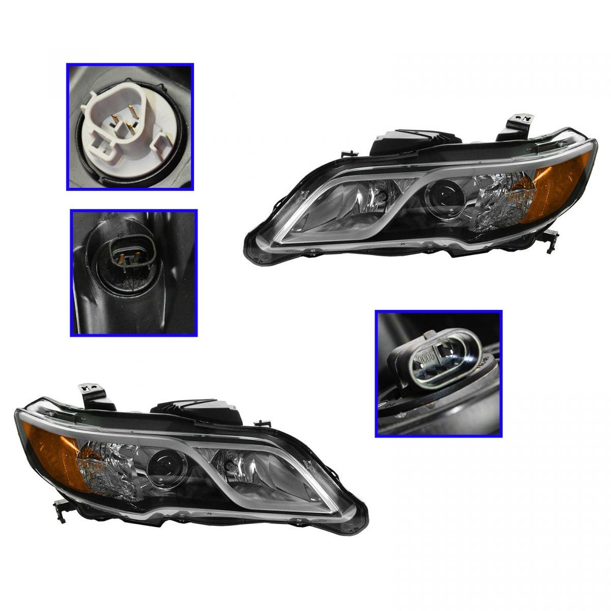 HID Xenon Headlight Headlamp Pair Set For 13 Acura RDX NEW