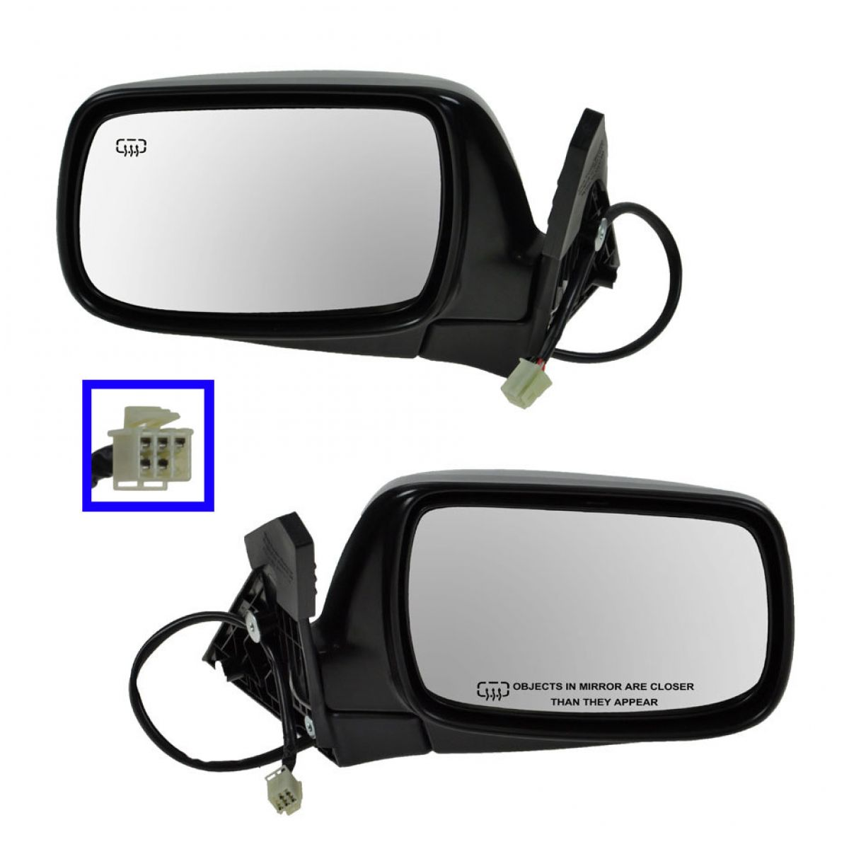 Power Heated Mirrors Pair Set Left Lh Amp Right Rh For