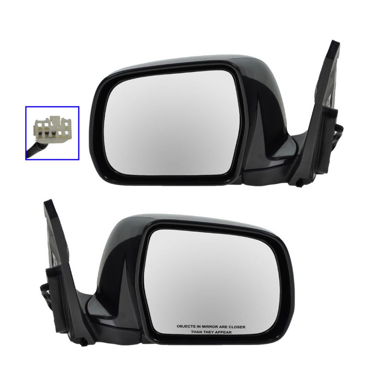 For 01-07 Highlander /& Hybrid Power Heat Manual Fold Mirror Left Right SET PAIR