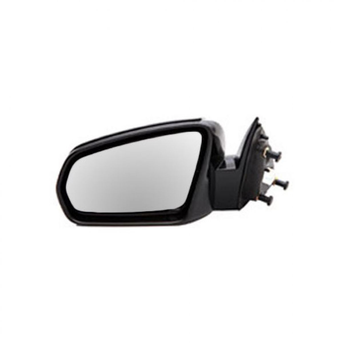 MOTOOS Textured Black Manual Door Mirror Replacement Left Driver Side Mirror Fit for 07-10 Jeep Wrangler