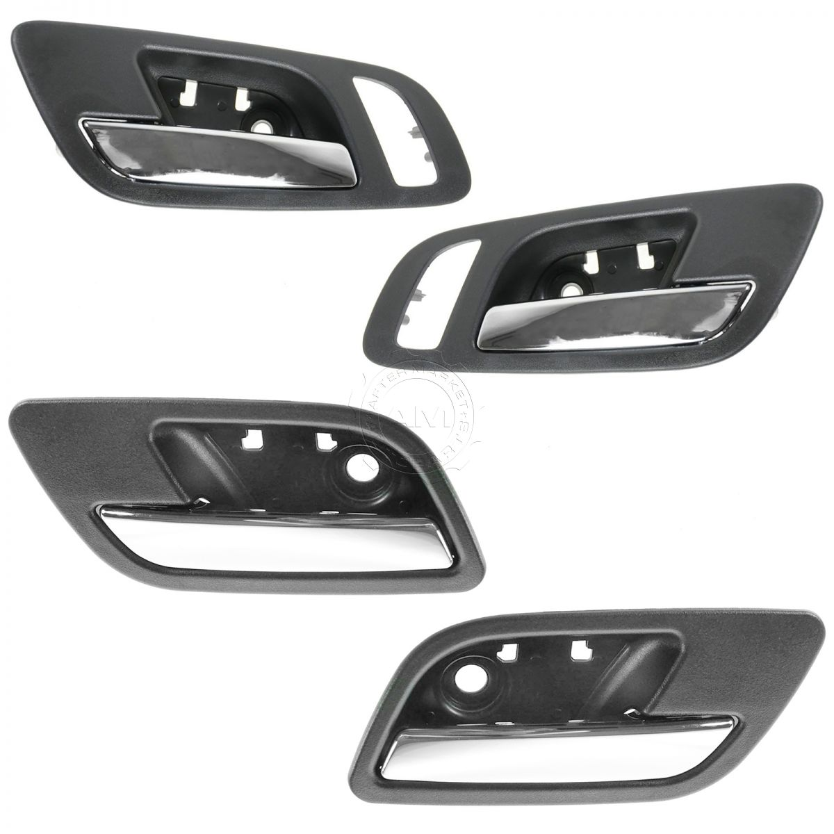 Front LH /& RH Pair Outer Door Handle Textured Black for 94-98 Mazda//Ford Ranger
