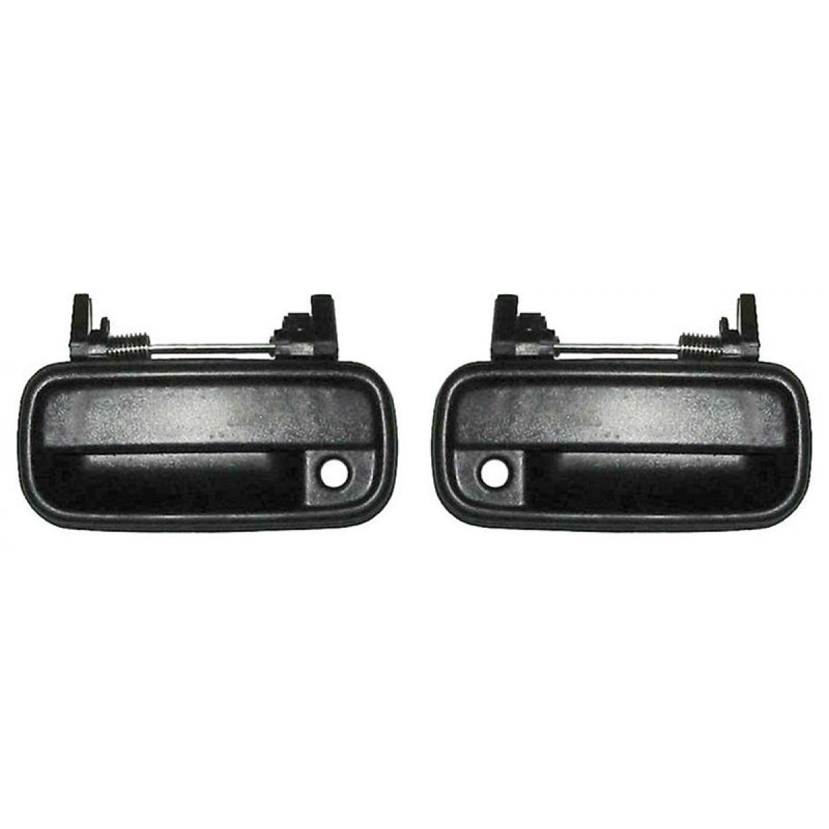 Front Black Exterior Door Handle Set Pair For 89 95 Toyota 4runner