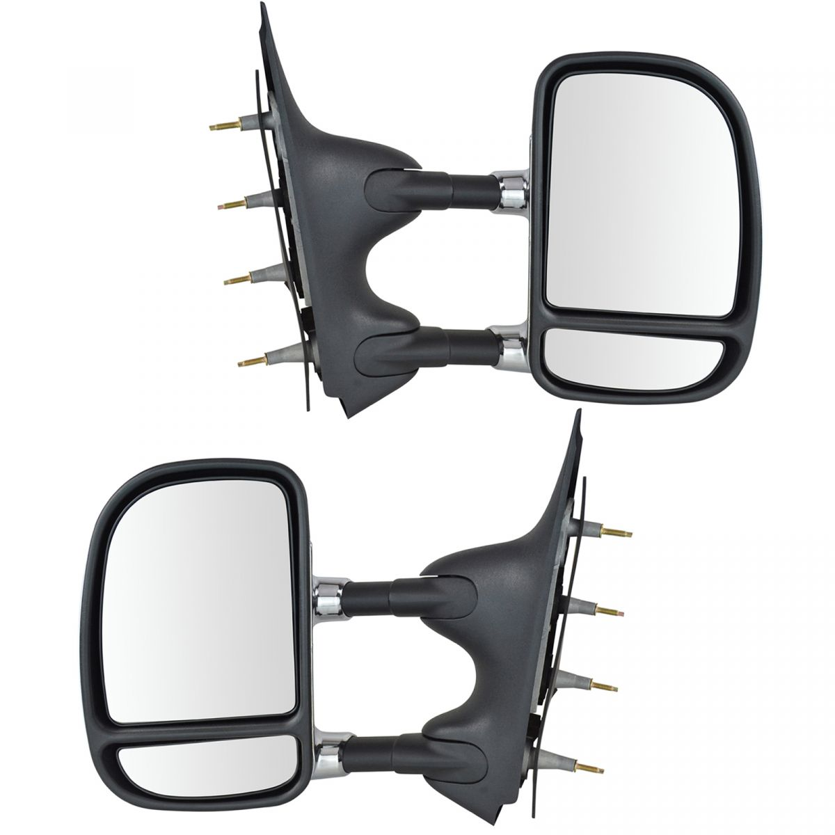 New Pair Set Manual Side View Mirror Glass Housing Ford Mazda Pickup Truck