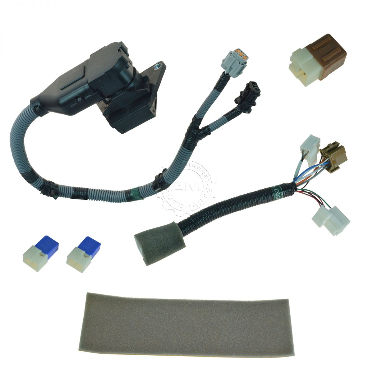 oem 999t8br020 complete 7 pin plug play tow harness kit. Black Bedroom Furniture Sets. Home Design Ideas