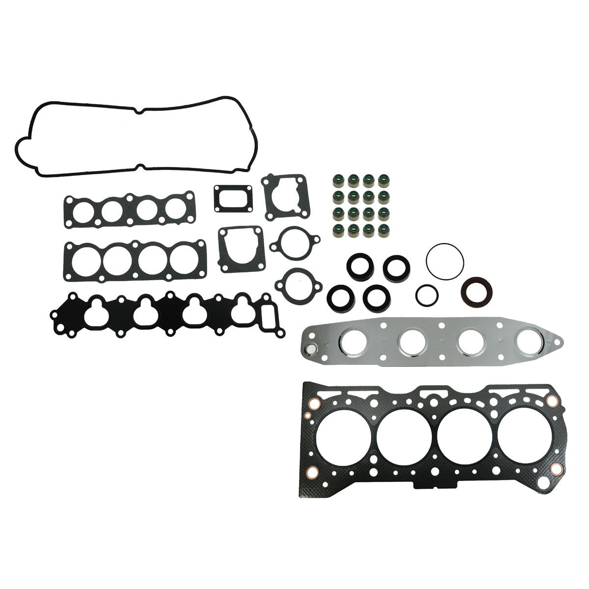 engine head intake exhaust manifold gasket set for suzuki tracker Geo Trapper engine head intake exhaust manifold gasket set for suzuki tracker sidekick 1 6l