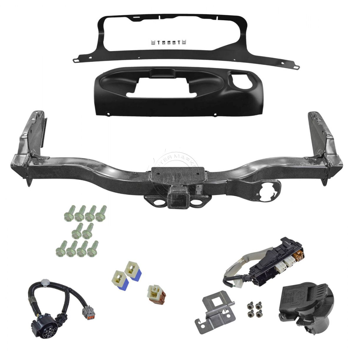 oem trailer tow hitch receiver w harness and finisher kit. Black Bedroom Furniture Sets. Home Design Ideas