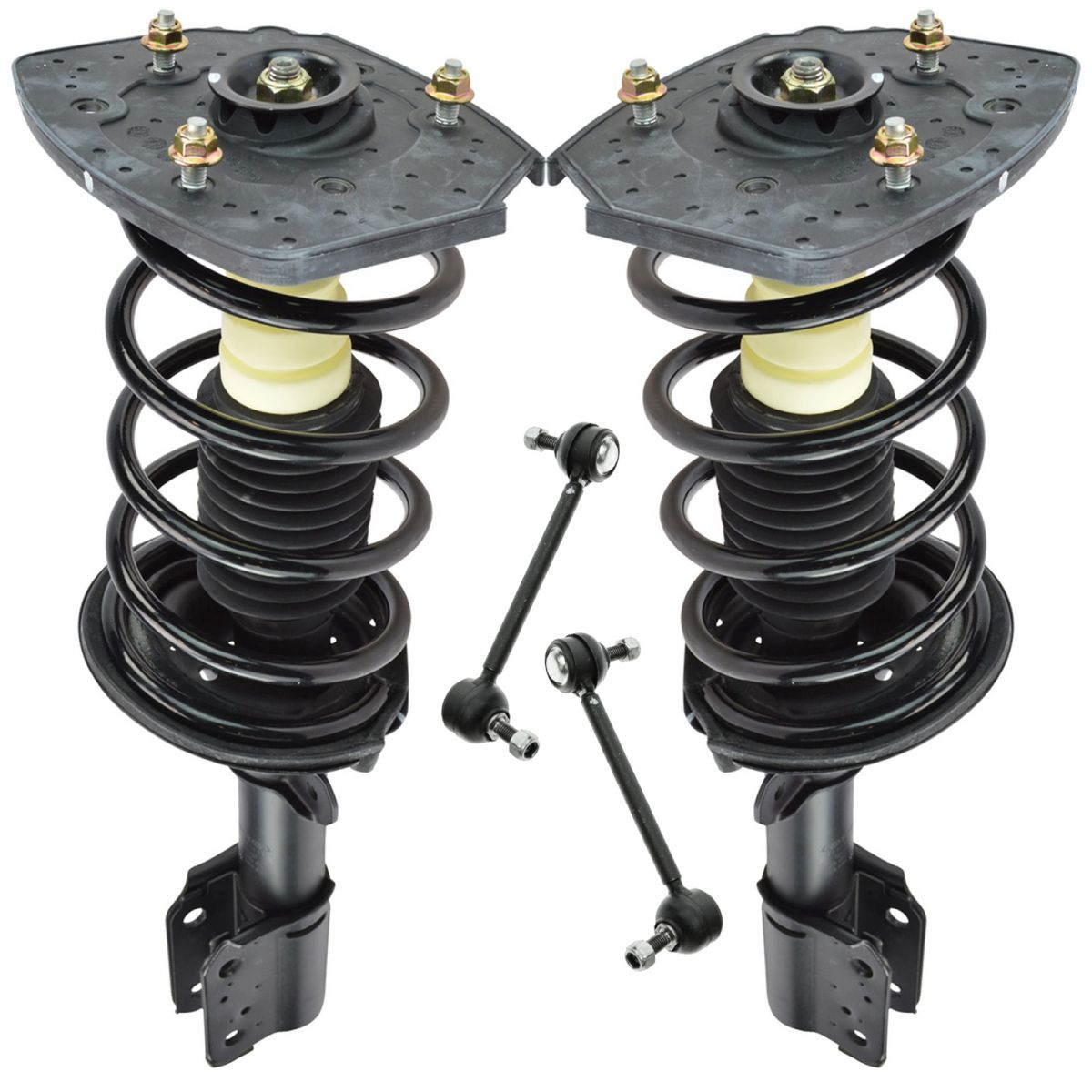 Front Suspension Kit Strut /& Spring Assemblies with Sway Links for GM New