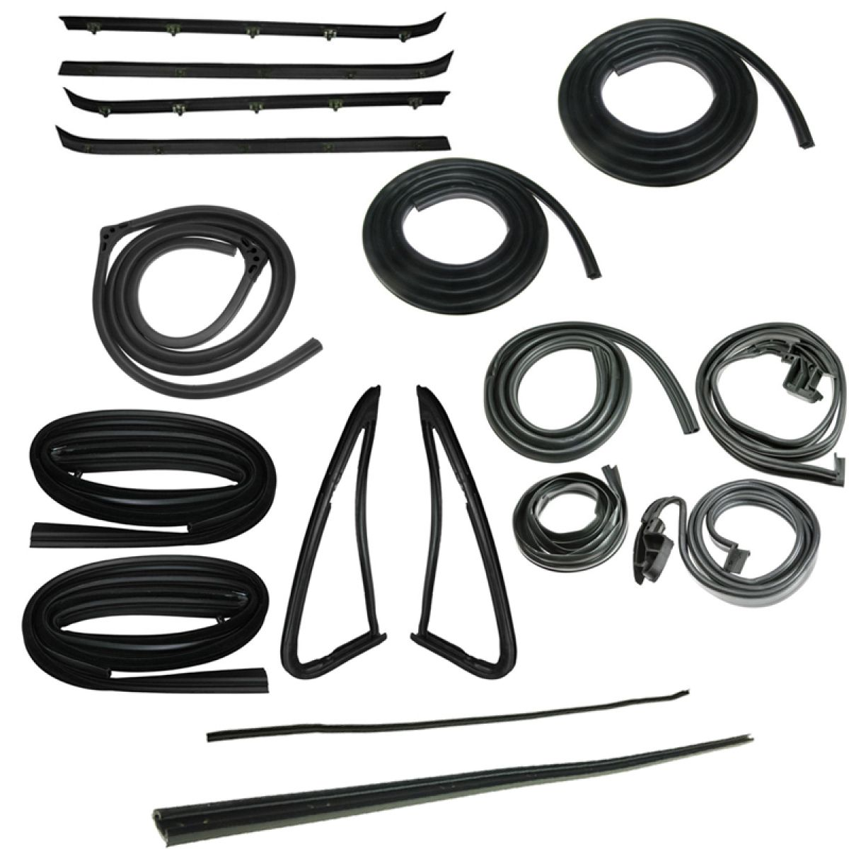 1983 Chevrolet K5 Blazer Black Complete Weatherstrip Kit 18 Piece Set For Gmc Jimmy Chevy Fullsize
